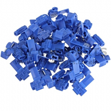 Blue Scotchlock Type Self Stripping Connector Suitable for  - 1.5-2.5mm Cable - Pack 100